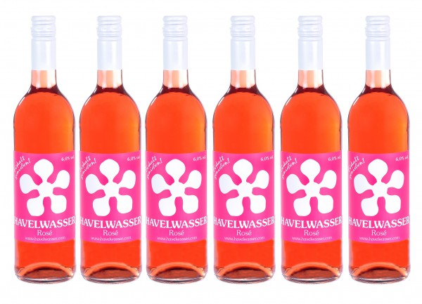 6er Karton Havelwasser Rosé, Bio - Birnensaft küsst Roséwein 6 x 750ml 4260415330093
