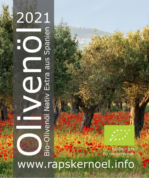 Olivenöl Bio, 3 Liter Bag-in-Box, Ernte 2021